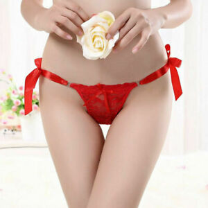 Thong-G-string-Bow-Knot-Lace-Low-Waist-Panties