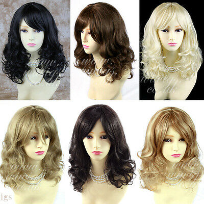 Wiwigs Stunning Black Brown Blonde Curly Medium Skin Top Ladies Wig