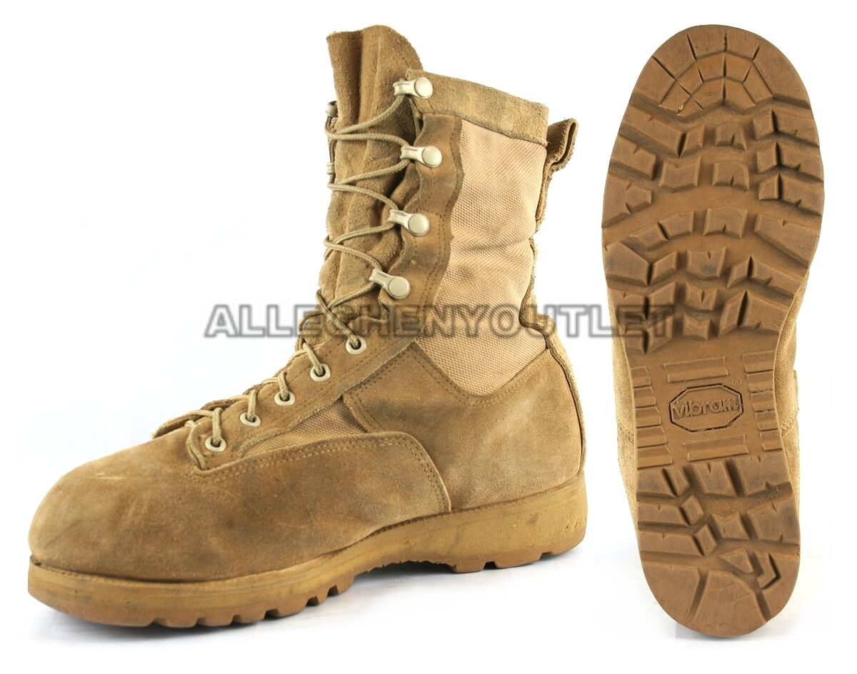 Mens US Military GORETEX ICB INFANTRY COMBAT BOOTS 790 Tan USA MADE Sz 6-15 VGC