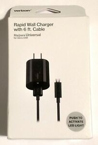 Verizon-Wall-Charger-Micro-USB-Rapid-with-LED-Light-6-ft-Cable
