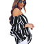 New-Womens-Striped-Loose-Sexy-Off-Shoulder-Blouse-Tops-Baggy-Casual-T-Shirt-Top thumbnail 6
