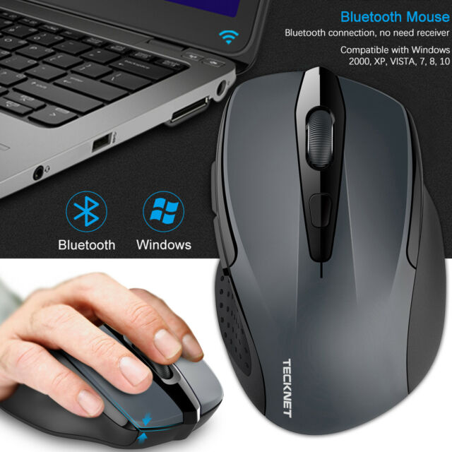 863b26197b4 TeckNet Bluetooth Wireless Mouse with 6 buttons DPI Adjustable for PC  Laptop Tab