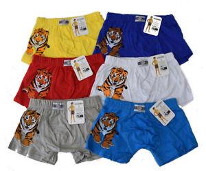 Kinder-Boxershorts-Neu-Jungen-Boxershorts-Bis-158-Kinder-Unterhose-6-Tlg-Slip-s