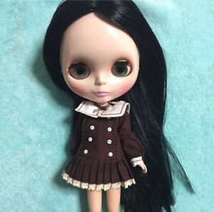 "Takara 12"" Neo Blythe Nude Doll Black Hair from Factory TBY341"