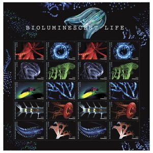 USPS-New-Bioluminescent-Life-Pane-of-20