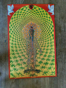 Vintage-Fool-on-the-Hill-Psychedelic-Poster-Satty-Black-Light-1967-Original