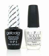 Opi Soak-Off GelColor Gel Polish + Nail Polish Funny Bunny #H22 0.5 oz