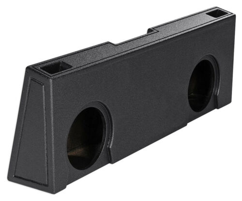 "Crew Cab Dual 12/"" Vented Ported Subwoofer Sub Box Enclosure For 07-13 GMC//Chevy"