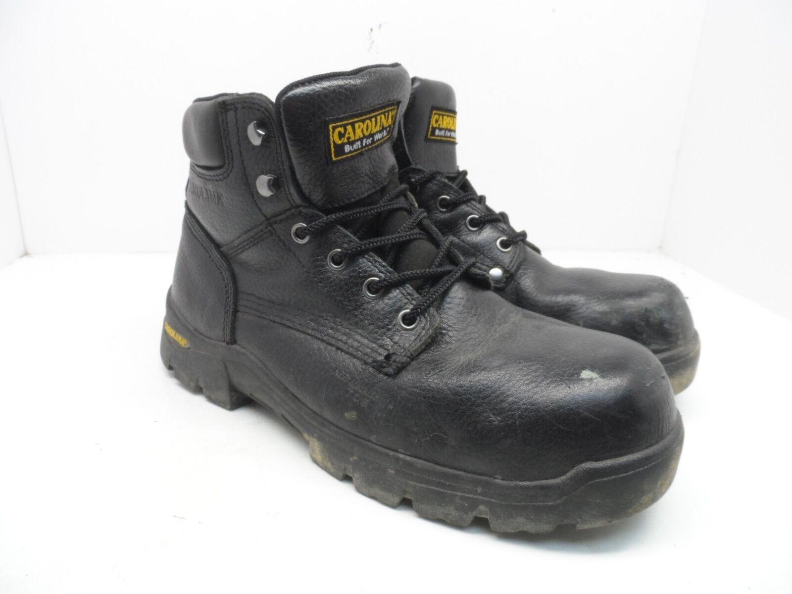 Carolina Men's 6  Comp Toe Work Boot CA9952 Black Size 9.5 Wide 2E