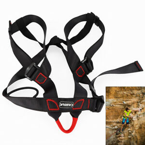 Pro-Rock-Climbing-Downhill-Harness-Rappel-Rescue-Safety-Belt-Body-protecting-USA
