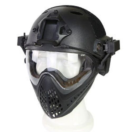 Game Airsoft Paintball Tactical Helmet Full Face Mask Goggles PJ Type Protective