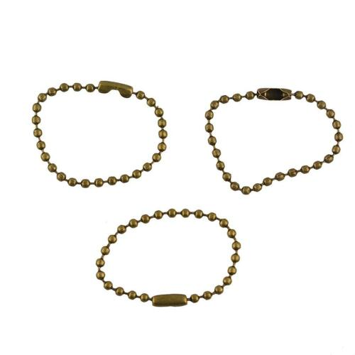 """20pcs Bronze Connector Clasp Ball Beads Jewelry Findings 4/"""" 10cm DIY Finding"""