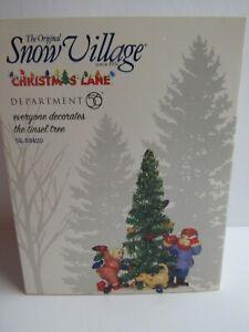 Dept 56 Snow Village Everyone Decorates The Tinsel Tree 55420