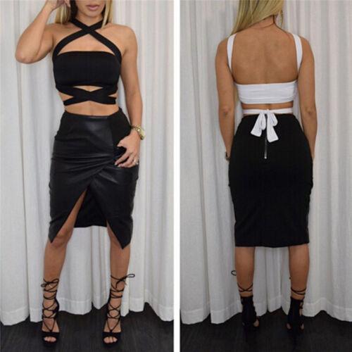 Women Halter Sleeveless Vest Bandage Crop Tops Camisole Tank Tops Shirt Blouse !