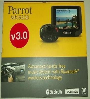 Parrot MKi-9200, manos libres coche, pantalla a color con USB, última versión.