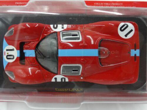 Ferrari Collection F1 412 P 1000km Spa 1967 1//43 Scale Mini Car Display Diecast