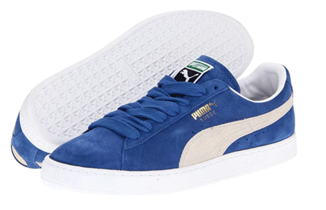 PUMA SUEDE CLASSIC Olympian Blue - White SHOES NEW in Box 352634 64