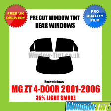 MG ZT 4-DOOR 2001-2006 35% LIGHT REAR PRE CUT WINDOW TINT