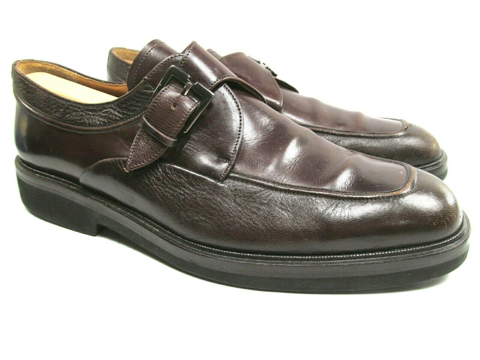 Paolo De Marco Mens Brown Monk Strap Apron Toe  With Buckle Size US 10