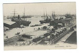 Alexandria Port in Egypt Postcard 1900s - Egypt in North Africa