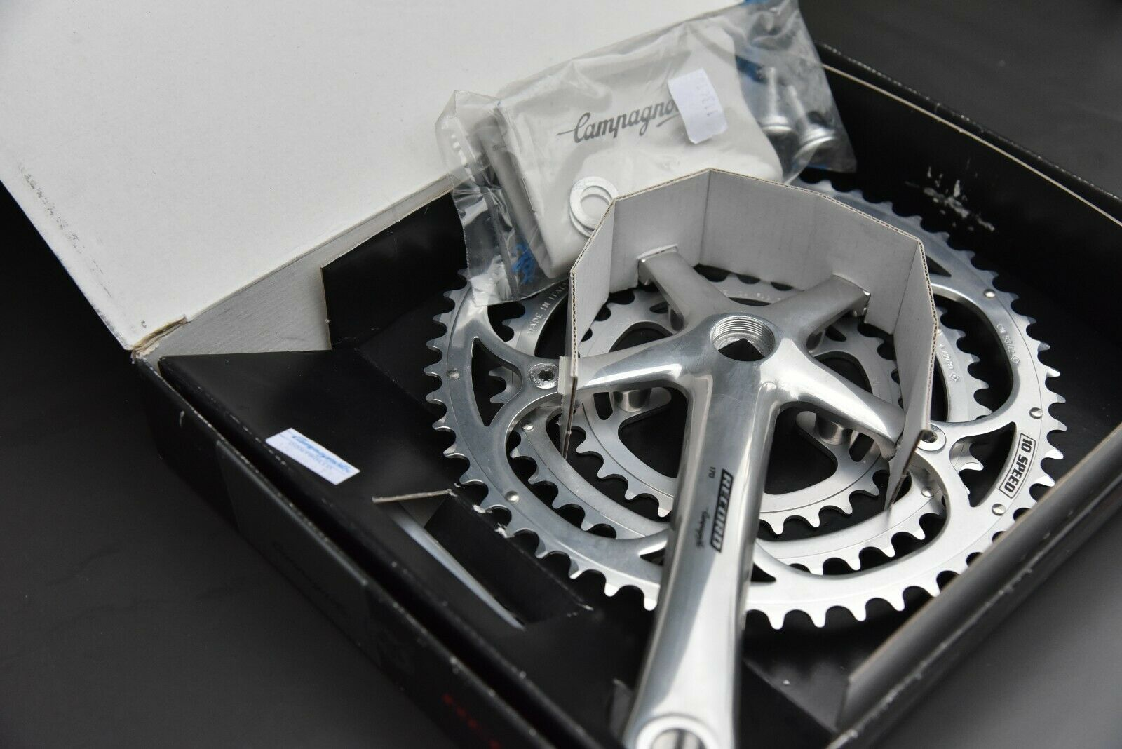 NOS Campagnolo 10 Speed Ketenset Cranks 170mm Boxed Triple 53 42 30