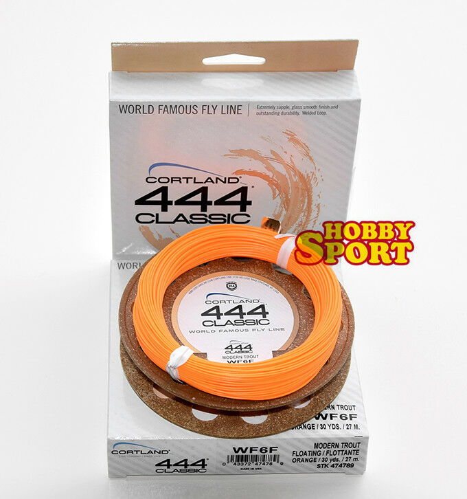 CORTLAND 444 CLASSIC  MODERN TROUT WF6F CODA DI TOPO FLOATING Orange   USA