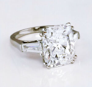 2-50-ct-Three-Stone-Cushion-Cut-W-Baguette-Diamond-Engagement-Ring-F-SI1-GIA