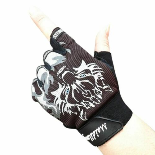 Sports Gloves Breathable Wolf Head Antiskid Cycling Gym Fitness Weight Lifting