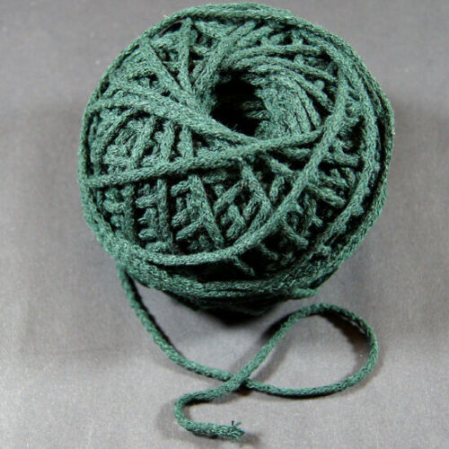 5m Baumwollkordel Schnur Perlenschnur Durchmesser 3 mm Dunkelgrün