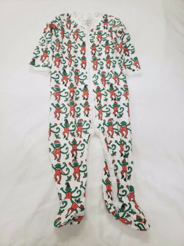 Christmas Monkeys 3-6 Months 6-9 Months New Roller Rabbit Footie Outfit
