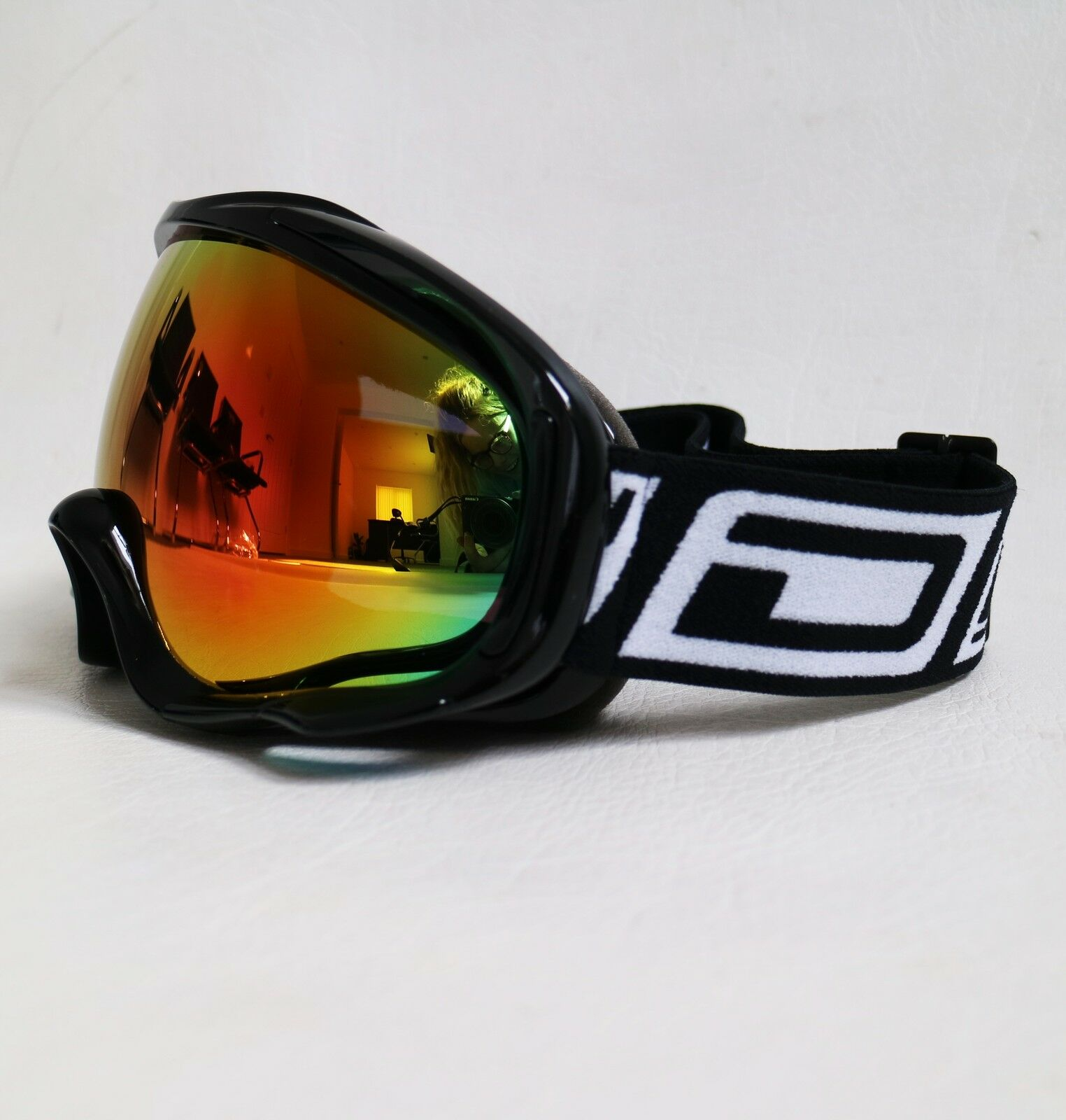 9d2554f3eea6 Dirty Dog Outrigger Goggles Red Mirror Lens Black Ski Snowboard 54116