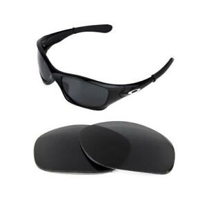 NEW POLARIZED BLACK REPLACEMENT LENS FOR OAKLEY PIT BULL SUNGLASSES ... 86b05f8364d5
