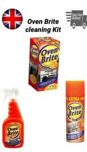 Détails sur Four Brite Kit De Nettoyage Four & Grill Cleaner Dégraissant Nettoyant Racks liquide Gants Sac afficher le titre d'origine