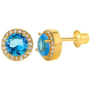 18k-Gold-Plated-Blue-Crystal-Round-Screw-Back-Earrings-for-Women-8mm