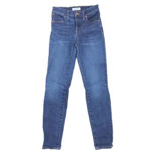 Madewell-9-High-Riser-Skinny-Skinny-Jeans-24-Womens-Ankle-Length-Medium-Wash