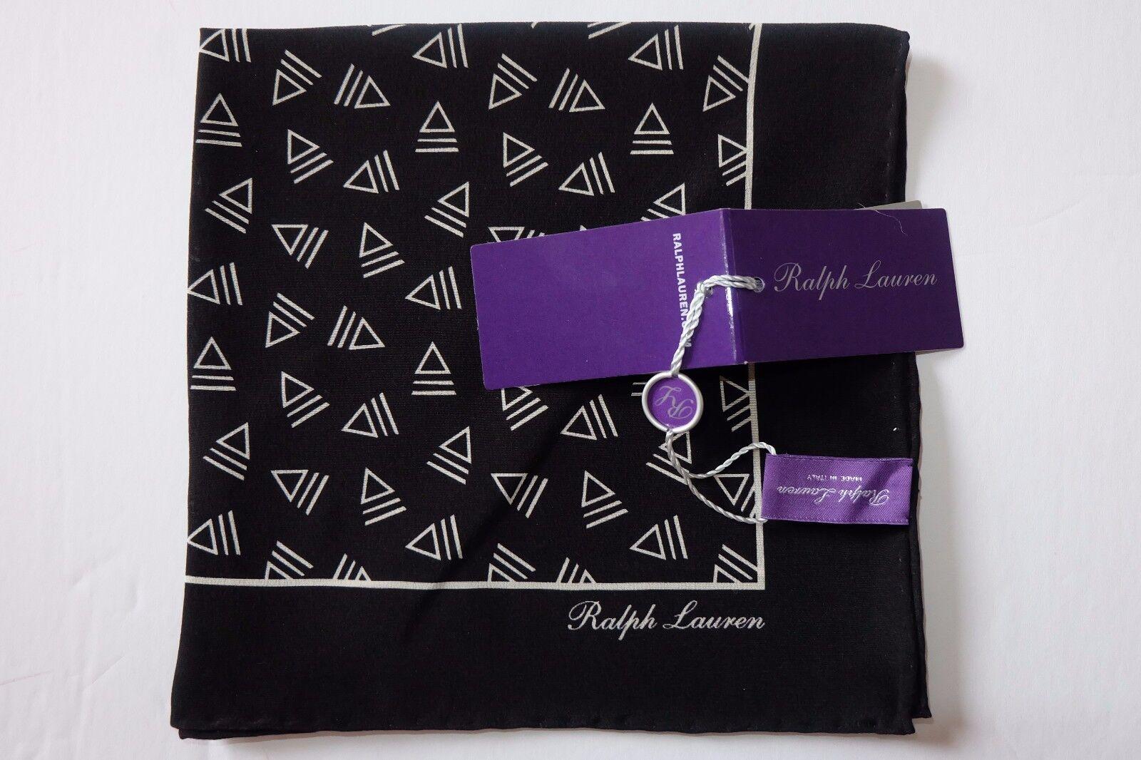 Nuevo Con Etiquetas Auténtico Ralph Lauren Purple Label Seda Bolsillo Cuadrado, hecho en Italia