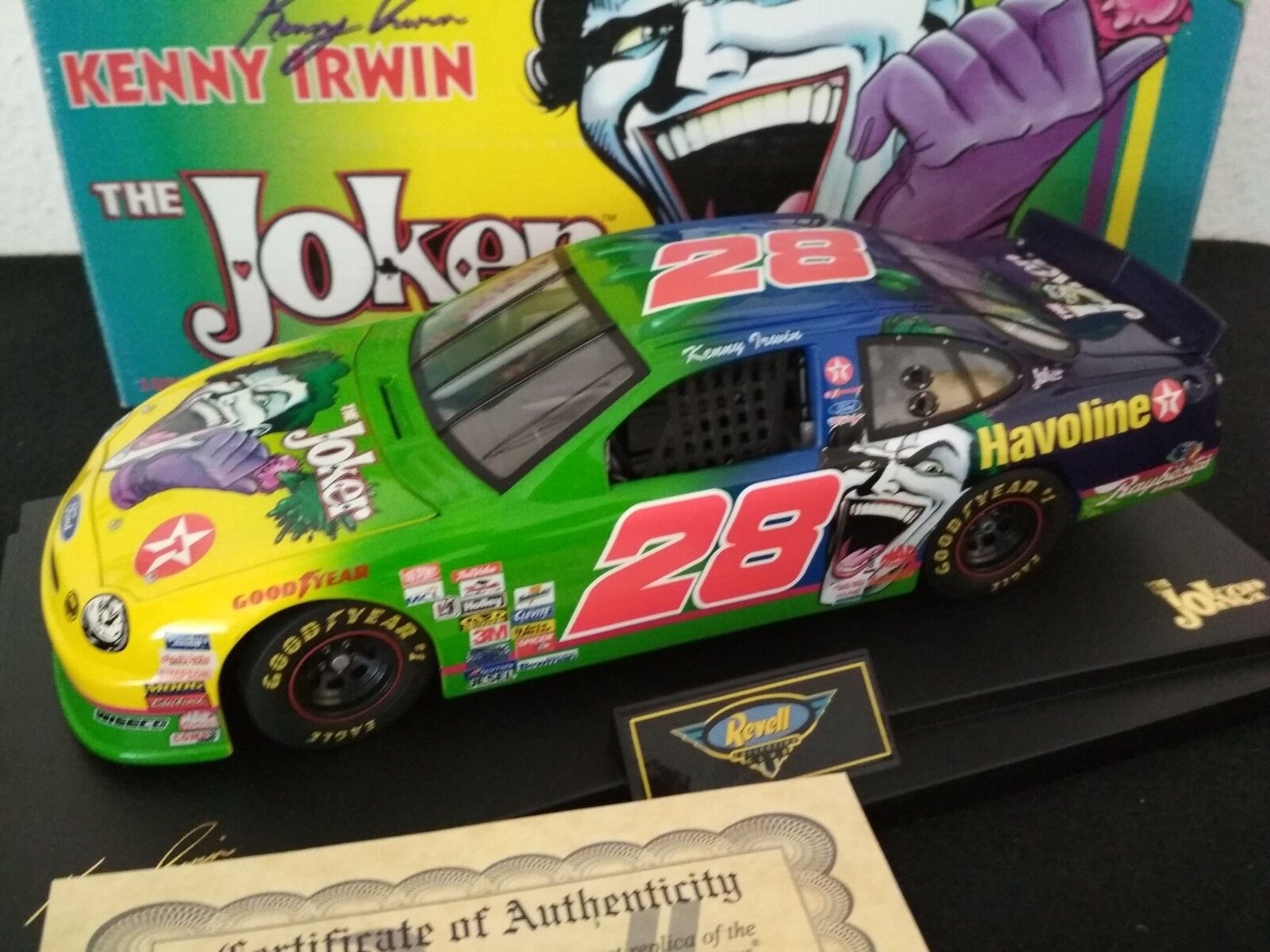 RAR  REVELL 1998 Kenny Irwin  28 The Joker Ford Taurus 1 18 Limited 504pcs