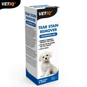 VetIQ-Tear-Stain-Remover-Cleansing-Aide-Safe-amp-Non-Toxic-Pour-Cats-amp-Dogs-100ml