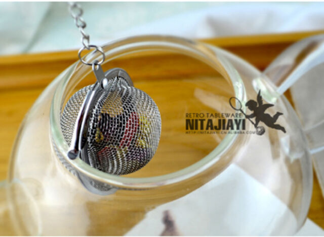 Silver Stainless Stell Tea Infuser Loose Tea Leaf Strainer Herbal Spice Filter