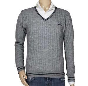 2d0e5a3edf Dettagli su Coveri Moving Maglione Maglia Pullover Scollo V Uomo Taglia L