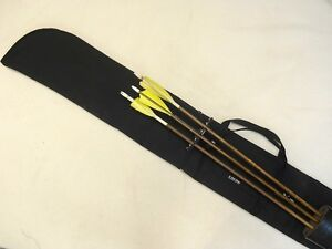 Traditional-Archery-CASE-for-UNSTRUNG-RECURVE-BOW-w-slide-on-quiver-Black-66-034