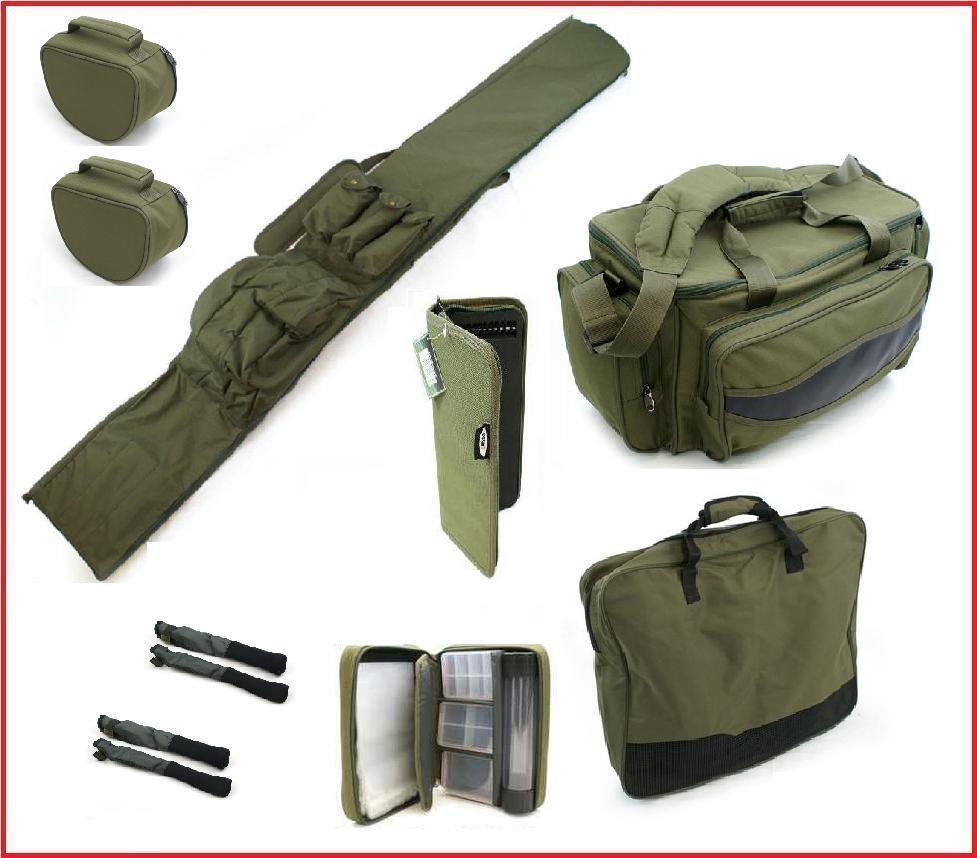 Carp Fishing Rod Holdall Carryall Bag Rig Wallet Net Bag Pva Wallet Cases & Tips