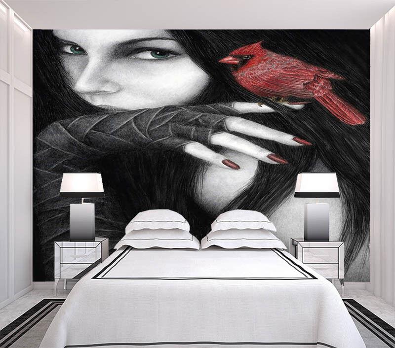 Enchanting Cool Girl 3D Full Wall Mural Photo Wallpaper Printing Home Kids Decor