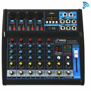 PYLE PMXU63BT 6-Channel Bluetooth Studio Mixer - DJ Controller Audio Mixing Console System Canada Preview