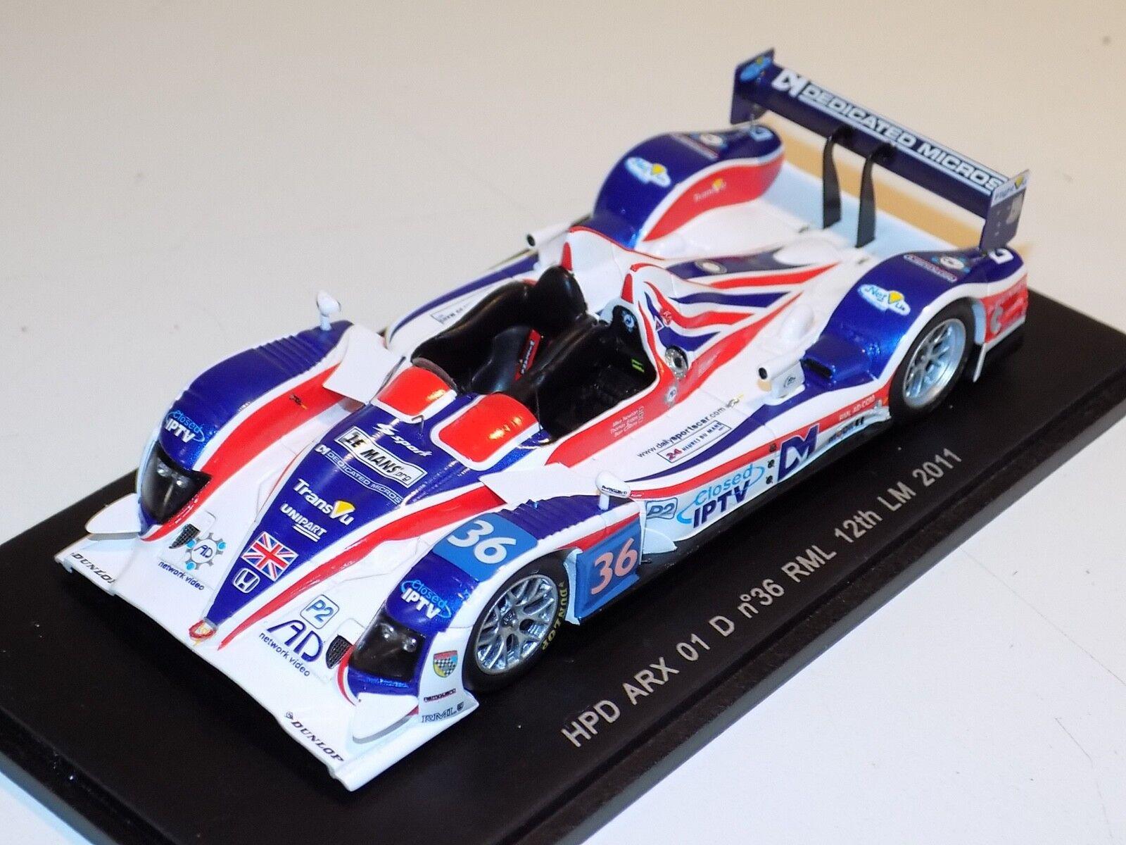 1/43 Spark HPD ARX 01 d coche 36 12th 2018 24 H de Le Mans S2534