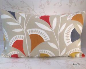Details About Scion Noukku Cushion Cover Scandi Retro Watermelon Slate Fabric 12 X 20