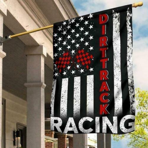 Garden Flag// House Flag Dirt Track Racing Flag