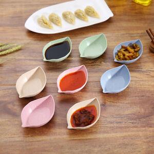 5 Patterns Wheat Straw Small Plates Food Snack Dish Sauce Plate Seasoning Dish S