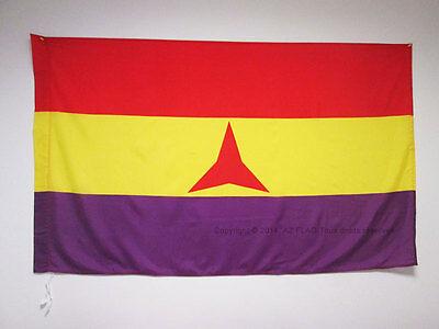 INTERNATIONAL BRIGADES SPANISH REPUBLIC FLAG 3' x 5' for a pole - SPAIN REPUBLIC