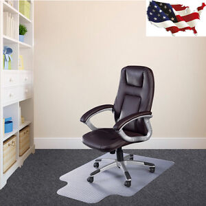 Image Is Loading PVC Home Office Chair Floor Mat With Lip